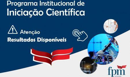 RESULTADO FINAL DO PROCESSO SELETIVO DE INICIAÇÃO CIENTÍFICA 2020/2021
